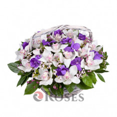 "Basket ""Paradise flowers"""